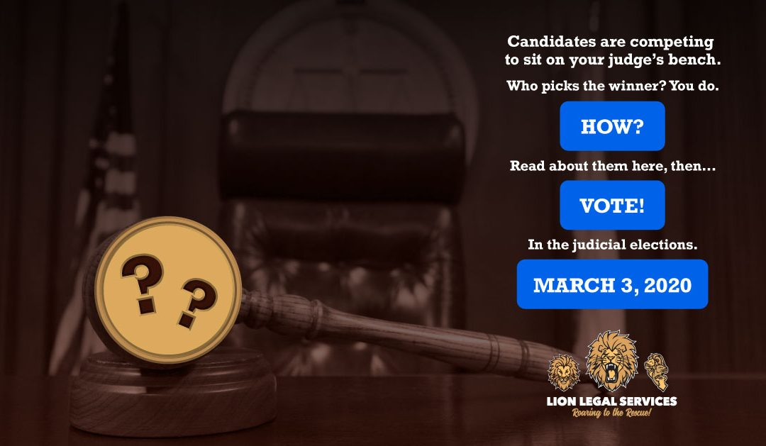 Off To The (Judicial) Races!